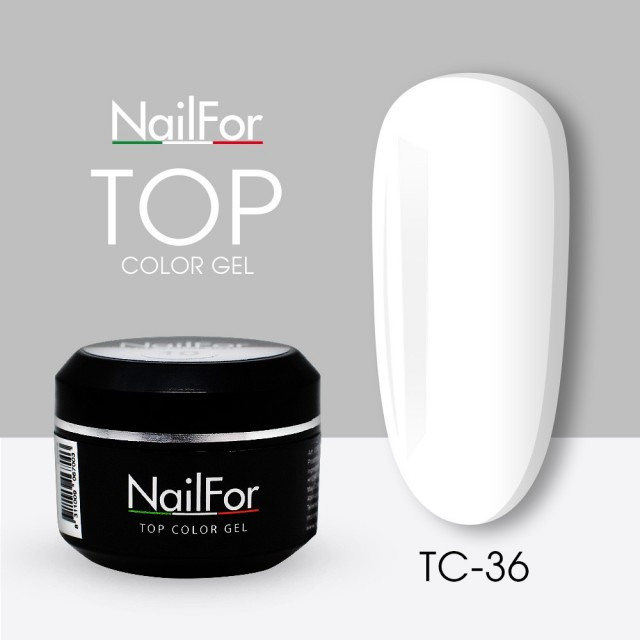 colore gel per unghie, nail art Painting Gel - TOP COLOR 36 Bianco
