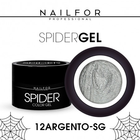 colore gel per unghie, nail art, nails SPIDER GEL - 12 Argento silver | Nailfor 4,90€