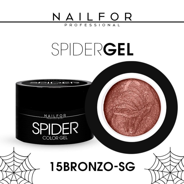 colore gel per unghie, nail art, nails SPIDER GEL - 15 Bronzo | Nailfor 4,90€