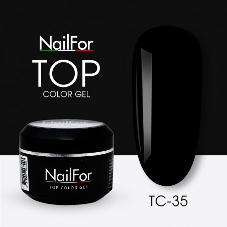 colore gel per unghie, nail art, nails Painting Gel - TOP COLOR 35 Nero | Nailfor 4,74€
