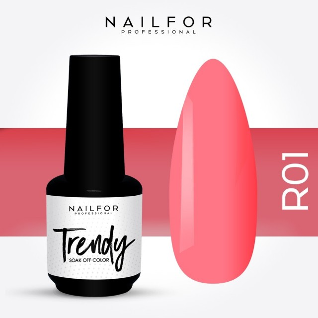 Semipermanente smalto colore per unghie: TRENDY Smalto Semipermanente R01-PGP Nailfor 7,99 €