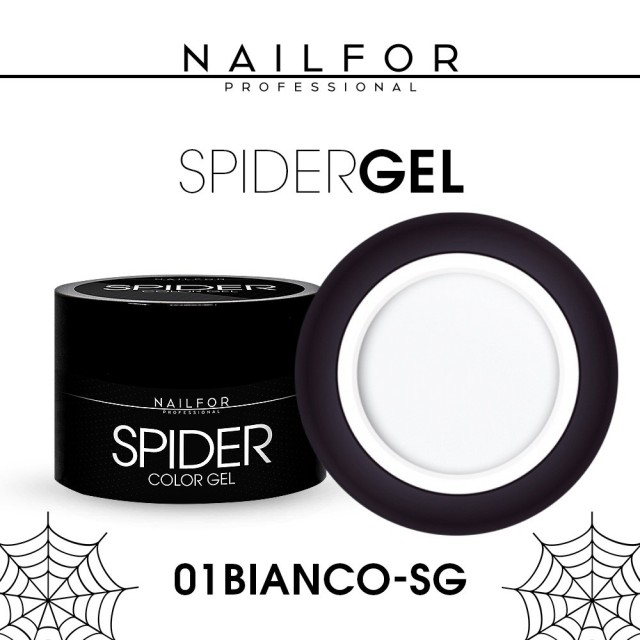 colore gel per unghie, nail art, nails SPIDER GEL - 01 Bianco   Nailfor 4,90€