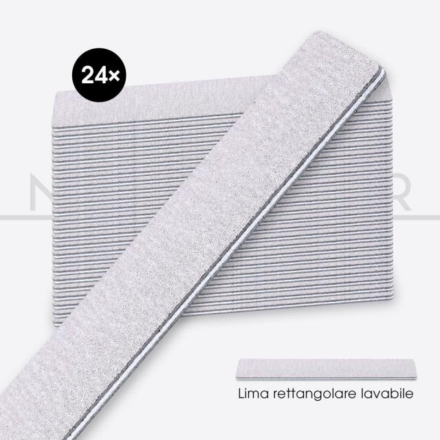 accessori per unghie, nails nail art alta qualità 24x LIMA RETTANGOLARE ad alta abrasività - ANIMA BIANCA Nailfor 14,99€ Nai...