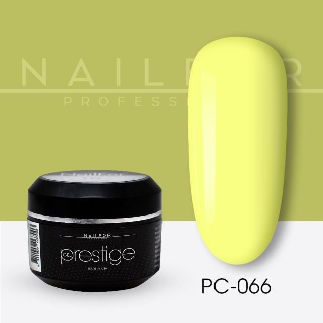 colore gel per unghie, nail art, nails PRESTIGE COLOR GEL 066-PC giallo | Nailfor 2,20€