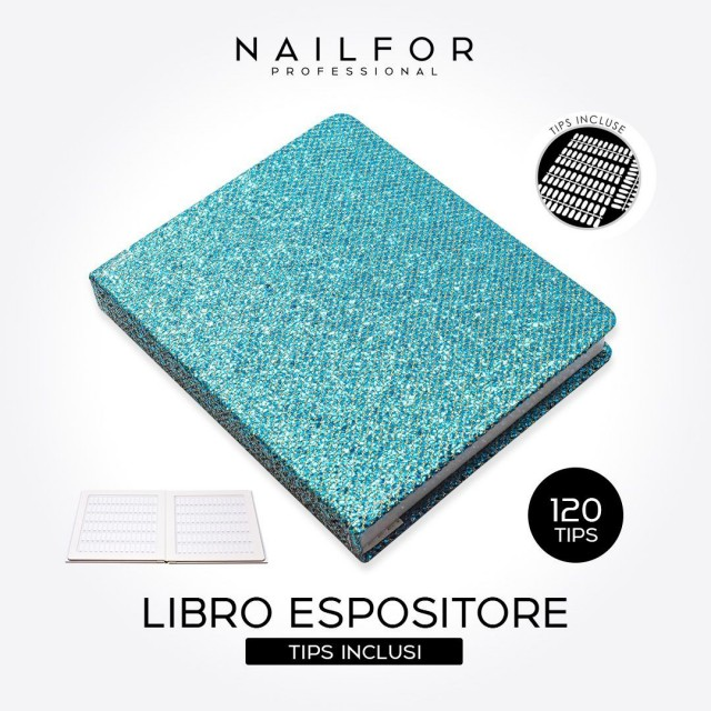 BOOK EXHIBITOR TURQUOISE PALETTE 120...