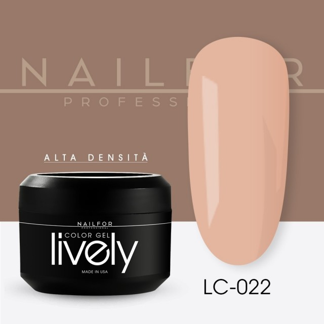 colore gel per unghie, nail art, nails Lively Gel Color - LC022 | Nailfor 4,83€