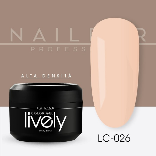 colore gel per unghie, nail art, nails Lively Gel Color - LC026   Nailfor 4,83€