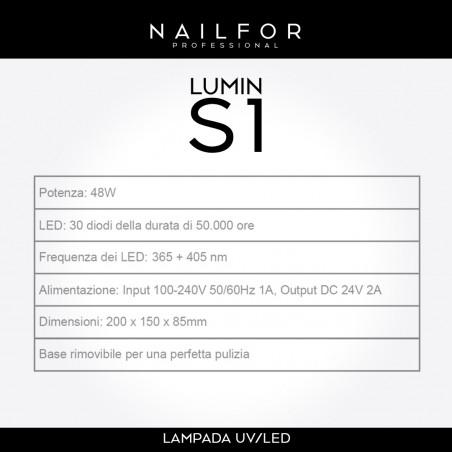 apparecchiature unghie ricostruzione: LUMIN S1 LAMPADA UV LED 48W con Timer, Sensore automatico 22,49€