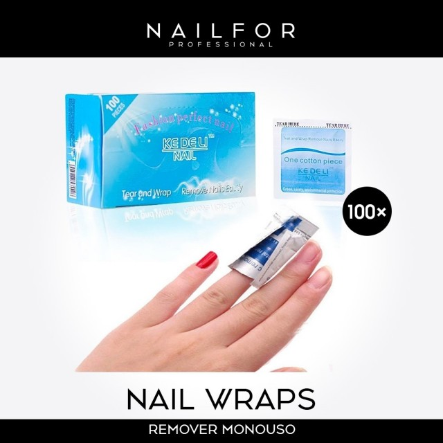 Nail Wraps Remover - 100 Pads...