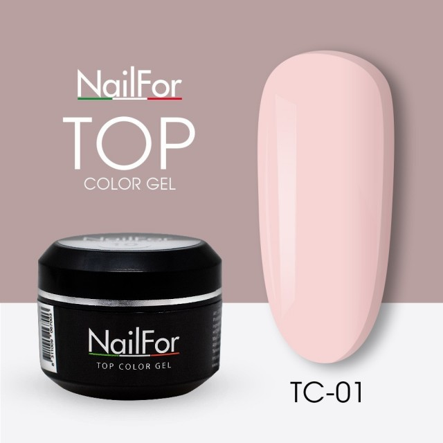 colore gel per unghie, nail art, nails Painting Gel - TOP COLOR 01 | Nailfor 4,74€