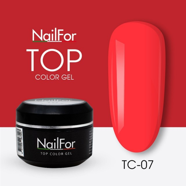 colore gel per unghie, nail art, nails Painting Gel - TOP COLOR 07 | Nailfor 4,74€