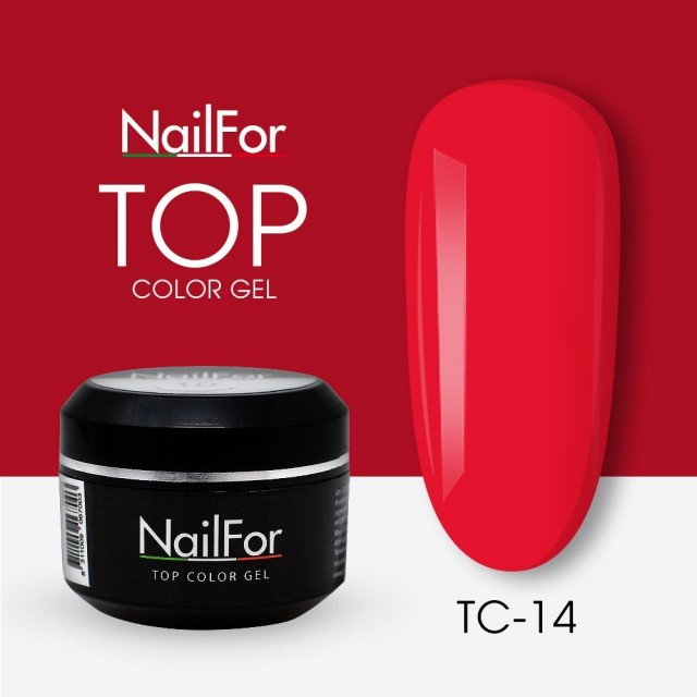 colore gel per unghie, nail art, nails Painting Gel - TOP COLOR 14   Nailfor 4,74€