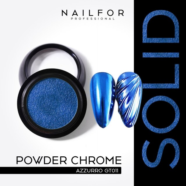 POWDER SOLID CHROME COMPACT BLUE GT011