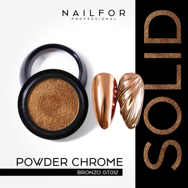 POWDER SOLID CHROME COMPACT BRONZE GT012