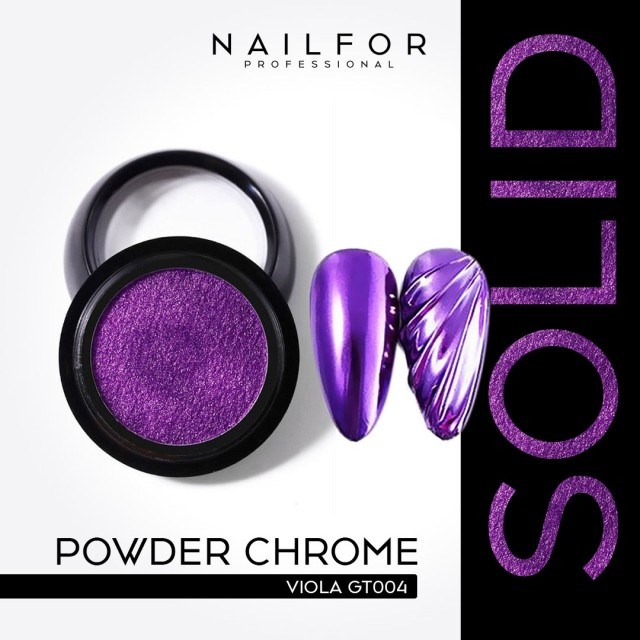 POWDER SOLID CHROME COMPACT PURPLE GT004