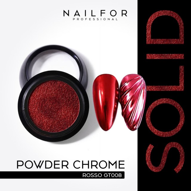 POWDER SOLID CHROME COMPACT RED GT008