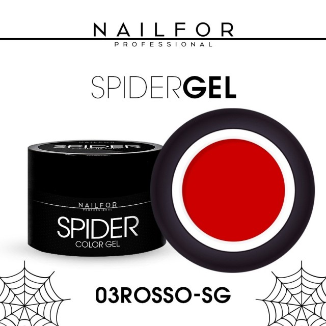 colore gel per unghie, nail art, nails SPIDER GEL - 03 Rosso   Nailfor 4,90€