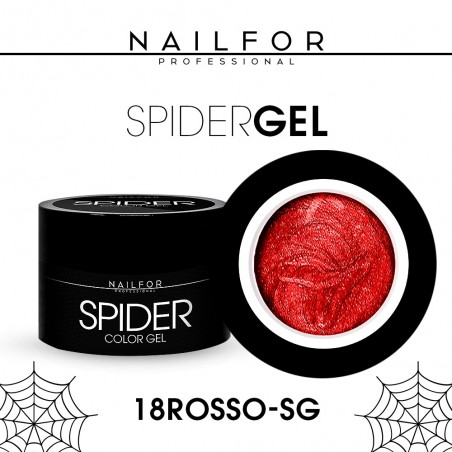 colore gel per unghie, nail art, nails SPIDER GEL - 18 Rosso | Nailfor 4,90€