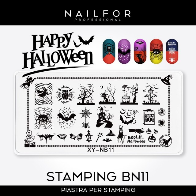 PLATE FOR STAMPING HALLOWEEN NB11