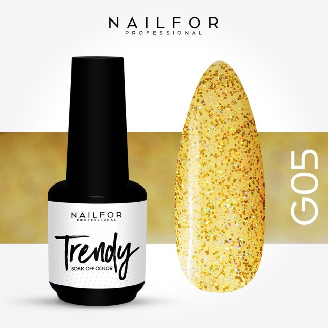 Semipermanente smalto colore per unghie: TRENDY Smalto Semipermanente G05-PGP Nailfor 7,99 €