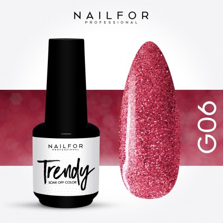 Semipermanente smalto colore per unghie: TRENDY Smalto Semipermanente G06-PGP Nailfor 7,99 €