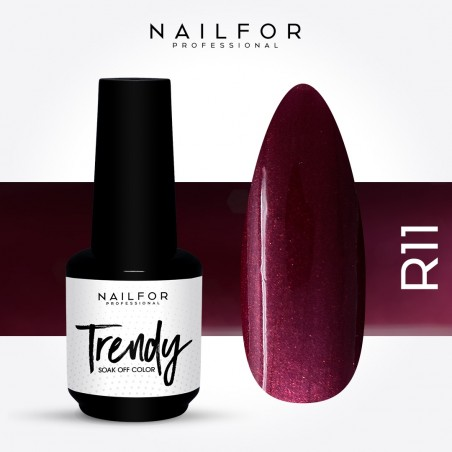 Semipermanente smalto colore per unghie: TRENDY Smalto Semipermanente R011-PGP Nailfor 7,99 €
