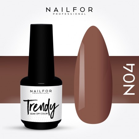 Semipermanente smalto colore per unghie: TRENDY Smalto Semipermanente N04-PGP Nailfor 7,99 €