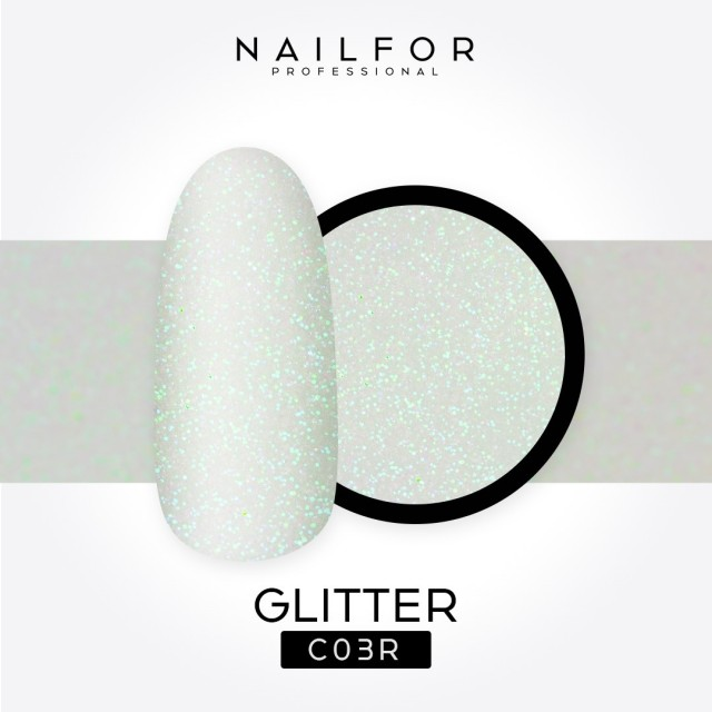 GLITTER G-C03R White with hints of...